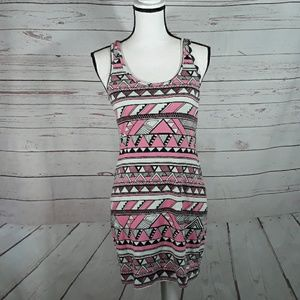 Aztec print sleeveless dress Medium stretchy
